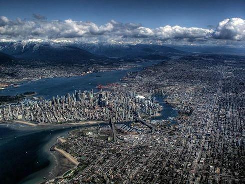 Фотография Ванкувера с высоты птичьего полета