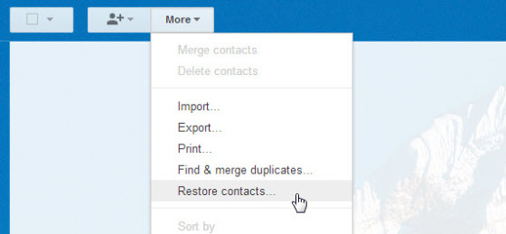 Восстановление контактов телефона после удаления их в Google