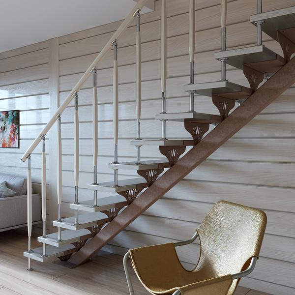 Достоинства лестниц из металла